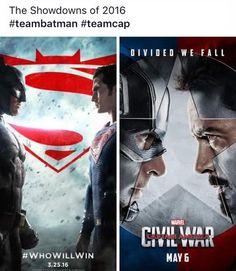 Which team are you on? Comics Love, Team Cap, Batman Vs Superman, Marvel Dc Comics, Captain America, Iron Man, Supernatural, Fangirl, Nerd