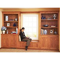 Free Built-in Bookcase and Cabinet Plan This would be perfect in our den!