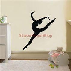 Gymnast Silhouette Decal Removable Wall Sticker Home Decor Art Gymnastics Dancer | eBay
