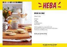 HEBA Bread-in-a-Mug - Banting Blvd Banting Bread, Banting Diet, Banting Recipes, Low Carb Recipes, Ketogenic Diet, Microwave Bread, Microwave Recipes, Low Carb Bread, Keto Bread