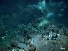 Deep-Sea Vents  The deep-sea vent theory suggests that life may have begun at submarine hydrothermal vents spewing key hydrogen-rich molecules. Their rocky nooks could then have concentrated these molecules together and provided mineral catalysts for critical reactions. Even now, these vents, rich in chemical and thermal energy, sustain vibrant ecosystems