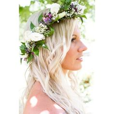 21 fall flower crown ideas inspiration for boho brides ❤ liked on Polyvore featuring accessories, hair accessories, floral crown, bohemian hair accessories, bridal flower crown, floral garland and bridal hair accessories