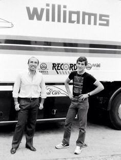 Frank Williams and Ayrton Senna - 1983 Donington Park