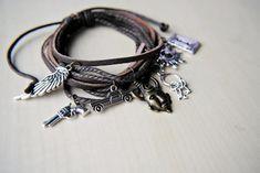 Dean Winchester Bracelet -- Supernatural Inspired -- Supernatural Charm Bracelet -- Dean's Amulet -- Supernatural Jewelry -- Samulet