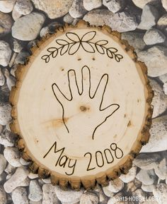 Take traditional stepping stones up a notch and give woodburning a try!