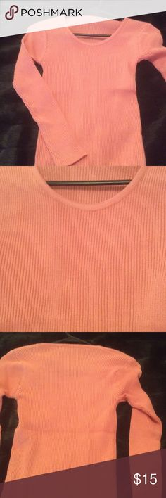 Sweater New without tags and never worn salmon sweater Sweaters Crew & Scoop Necks