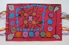 """Middle Eastern """"Magic Carpets""""   Lots of other middle eastern art lessons on this blog as well."""