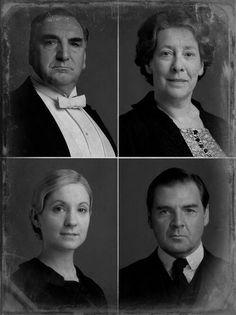 Mr Carson, Mrs Hughes, Anna & Bates