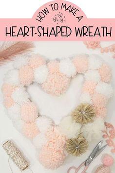 Valentine's Day Craft: Yarn Wrapped Hearts Tutorial | FYNES DESIGNS Valentine Bouquet, Valentine Day Wreaths, Valentines Day Party, Valentines Day Decorations, Valentine Day Crafts, Easter Crafts, Holiday Crafts, Holiday Ideas, Holiday Decor
