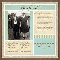 Scrapbook Sunday: Paternal Grandparents