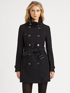 Burberry Brit - Double-Breasted Wool-Blend Coat