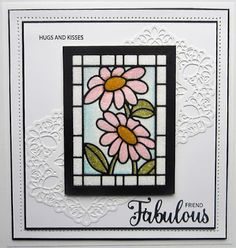Creative Expressions stansmal Daisy CED24006 uit de Stained Glass collection