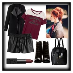 """""""Back to school #messybunday"""" by genial on Polyvore featuring moda, NARS Cosmetics, Yves Saint Laurent e Marc by Marc Jacobs"""