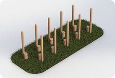 School Playground Wooden Stilts