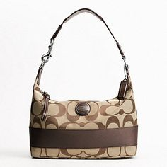Authentic NWT Coach Signature Stripe Hobo Womens Purse Handbag 17434   225.00 Designer Inspired Handbags 0f5863e3d2759