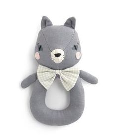 Abigail Brown Cat Ring Rattle<br/>