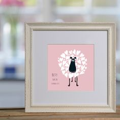 Betty the Sheep personalised print £48