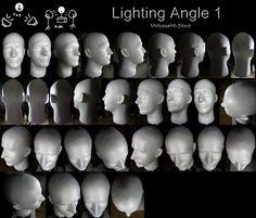 """트위터의 ART In G 자료 봇 님: """"다양한 각도의 빛 사진 (얼굴) #빛 #얼굴 #사진 #자료 #아트인지 #Light #Face…"""