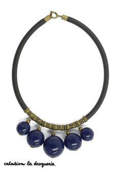 On aime utiliser les grosses pièces pour créer nos bijoux ! #ladroguerie #bijoux #collier