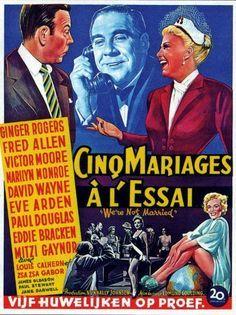 WE'RE NOT MARRIED!, Paul Douglas, Eve Arden, 1952 - Buscar con Google