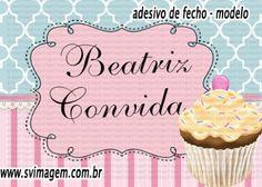 SV Imagem Personalizados - Silmara Vintem: Convite personalizado com foto no Tema Cupcake