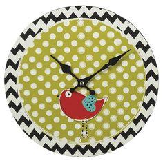 Cute Birdie Wall Clock.