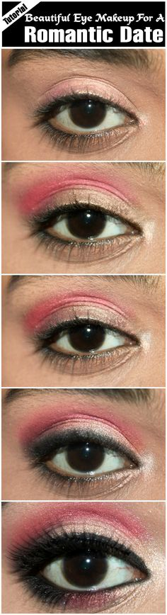 Beautiful Eye Makeup For A Romantic Date – Tutorial With Detailed Steps And Pictures