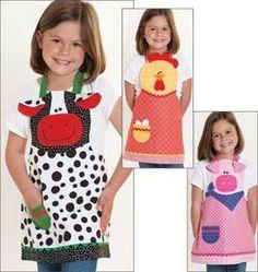 Moldes Para Artesanato em Tecido: Avental Infantil Com moldes