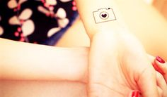 3pcs Hearty Camera - InknArt Temporary Tattoo - wrist quote tattoo body sticker fake tattoo wedding tattoo small tattoo