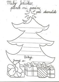 dopis Ježíškovi pokud máte zájem pište si přez Diy And Crafts, Crafts For Kids, Christmas Activities For Kids, Christmas Time, Holiday, Memory Books, Teaching Tips, Winter Time, Needlepoint