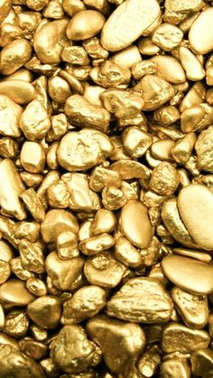 """Little nuggets of gold. Or, this might be gold dust under intense magnification. No caption, other than """"gold"""". Oroboros Tattoo, Bild Gold, Gold Bullion Bars, Gold Everything, Or Noir, Gold Wallpaper, Iphone Wallpaper, Wallpapers Android, 480x800 Wallpaper"""