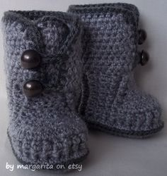 Baby booties crochet for 0-3 M