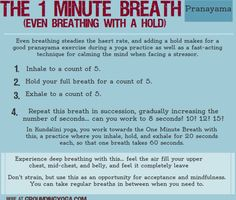 The 1 Minute Breath: Even Breathing with a Hold Mindfulness Practice, Mindfulness Meditation, Simple Meditation, Mindfulness Exercises, Kundalini Yoga, Pranayama, Reiki, Holistic Management, Meditation Scripts