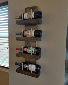 Rustic Wine Rack by HumphriesGarage on Etsy