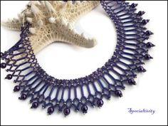 Purple Glass Pearl Victorian Style Handmade Purple Beaded Necklace | specialtivity - Jewelry on ArtFire
