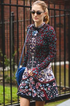 London Street Style That Just Oozes Cool #refinery29  http://www.refinery29.com/2016/02/103453/london-fashion-week-fall-winter-2016-street-style-pictures#slide-35  It's all in the details on this skater dress (seriously, look closely)....