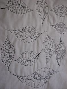 leaves by frantasticquilts, via Flickr  I wonder how I would fill in between the leaves?  fun stuff.