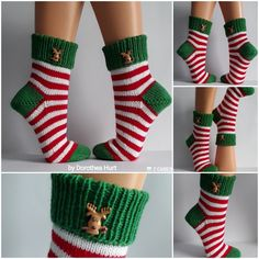 Crochet Socks, Merry Christmas, Slippers, Sewing, Knitting, Inspiration, Knitting Socks, Good Ideas, Handarbeit