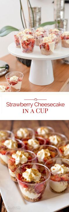 Strawberry Cheesecake in a Jar - a light, refreshing, easy-to-make dessert. #delicious #recipe #cake #desserts #dessertrecipes #yummy #delicious #food #sweet