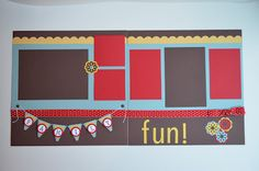 Stampin' Up! Scrapbook pages. Family fun!