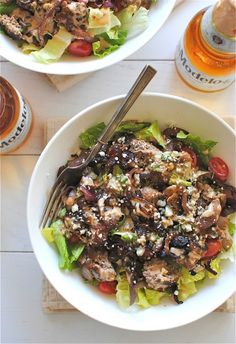 Turkey Burger Salads with Pub Dressing