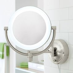 10X 1X Natural Light Wall Mirror  I can't see to put on my makeup w/o a magnifying mirror. Old age is not for sissies.