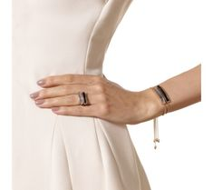 Rose Gold Vermeil Baja Chain Bracelet - Black Onyx - Monica Vinader