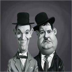 Rob Snow   caricatures - Laurel and Hardy