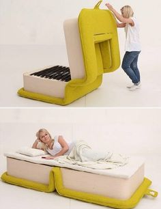 Multifunctional Arm Chair With a Bed Attached