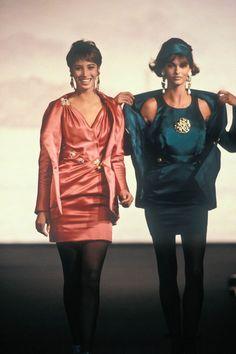 Chanel HC F/W 1990 Models: Christy Turlington & Linda Evangelista