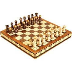 """Classic chess set with carved pieces.    Product: Chess set  Construction Material: Polystone    Dimensions: 2"""" H x 17"""" W x 17"""" D (board)  Cleaning and Care: Wipe with dry cloth"""