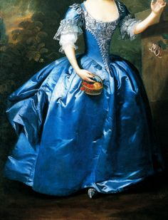 Willem Verelst (active c.Portrait of a Girl in a Blue Dress with a Parrot in a Palatial Garden, c. 1730-40 1734-1752).