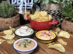 Dutch Recipes, Dip Recipes, Savory Snacks, Party Snacks, Chips, Vinaigrette, Starters, Tapenade, Hummus