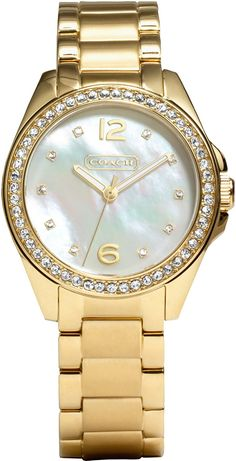 Coach Women's 14501657 Tristen Gold Tone Bracelet Watch *** Details can be found by clicking on the image.